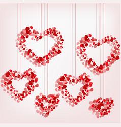 Pendant heart of hearts vector