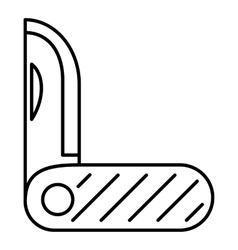 Pocket knife metal icon outline style vector