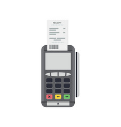 Pos terminal icon credit card processing vector