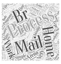 Process E mails Online For Money Word Cloud vector image vector image