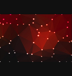 red brown black geometric background with lights vector image vector image