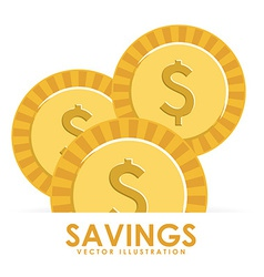 savings design vector image