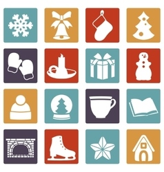 Stock of winter and Christmas vector image vector image