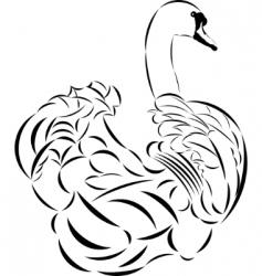 tattoo swan vector image vector image