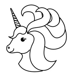 Unicorn animal horn vector