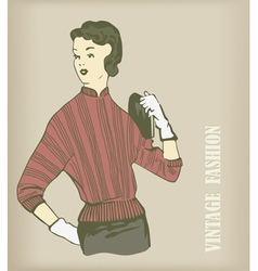 Vintage fashion vector