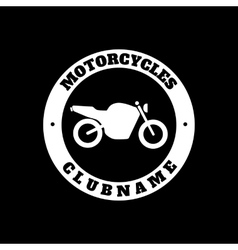 Vintage motorcycle emblem label badge logo and vector