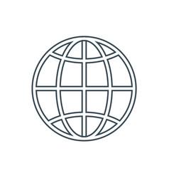 world globe icon vector image