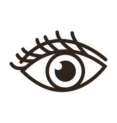 single eye icon vector image
