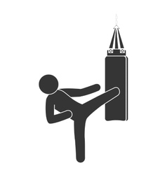 Punching sack boxing vector