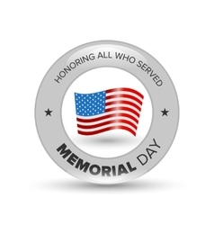 Memorial day badge vector