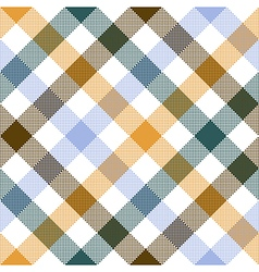 Colored diagonal check seamless fabric texture vector