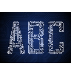 2451 pcbABC vector image