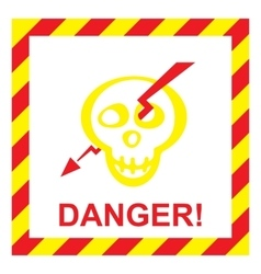 Electric shock risk sign vector