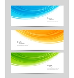 Set of colorful banners vector