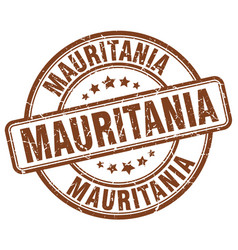 Mauritania brown grunge round vintage rubber stamp vector