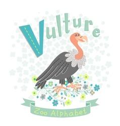 Letter V - Vulture vector image