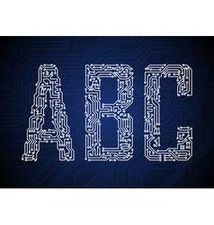 2451 pcbABC vector image vector image