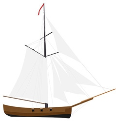 Sloop ship vector