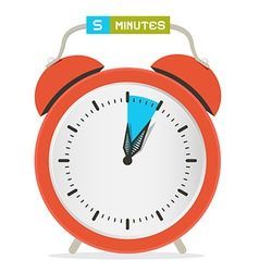 5 - five minutes stop watch - alarm clock vector
