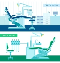 Dental room banner set vector