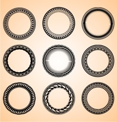 Artistic circular set vector
