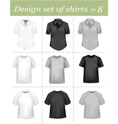 black and white men polo shirt vector image