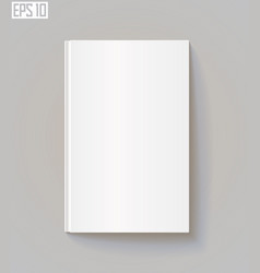 blank book cover eps 10 vector image
