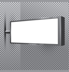 blank store white signboard on transparent vector image vector image