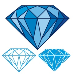 blue diamond vector image