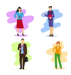 Business women and men vector image vector image