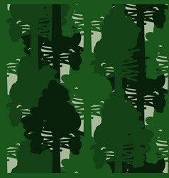 Camo forest green seamless pattern vector