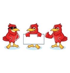 Cardinal mascot happy vector