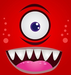 Cartoon expression monster vector image vector image