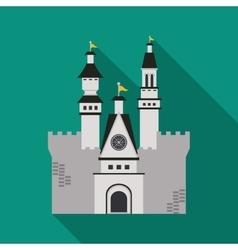 Castle icon palace design flat vector