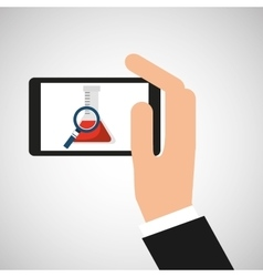 Chemistry laboratory smartphone searching test vector
