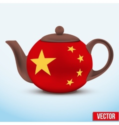 Chinese ceramic teapot vector