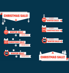 Christmas lower thirds vector