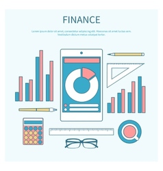 Concept of corporate finance vector image vector image