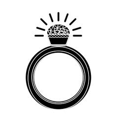 Diamond ring icon vector