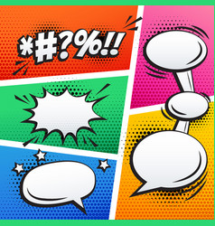empty comic sound effect and page strip background vector image