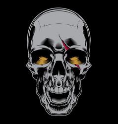 Evil laughing skull vector