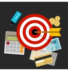 Financial investment target money management vector