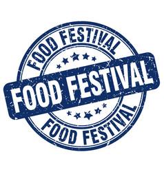 Food festival stamp vector
