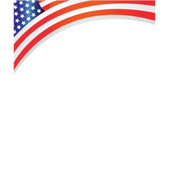 frame with usa flag vector image