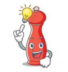 Have an idea pepper mill character cartoon vector