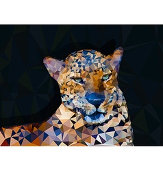 Low poly geometric of leopard vector