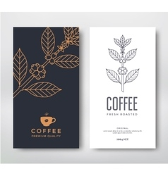 Packaging design coffee vector image vector image