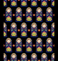 pattern with russian dolls matryoshkas vector image