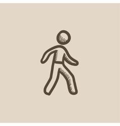 Pedestrianism sketch icon vector